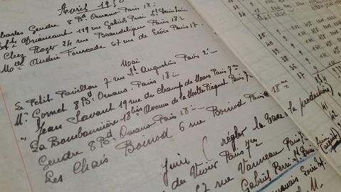 Cahier de vente H. CHAINIER
